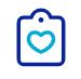 icon clipboard heart