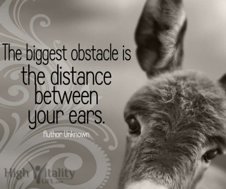 obstacle between ears